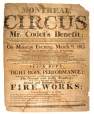 M6109 | Montreal Circus, Mr. Codet's Benefit | Poster |  |  | 