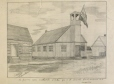M8979 | First Methodist church in Oka, which was demolished by the S.L. Seminary (?) | Drawing | O. Dieker |  |