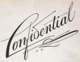 "M930.50.1.127 | Design for word ""Confidential"" 