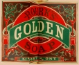 M930.50.1.348 | Étiquette commerciale de Rourk's Golden Soap, Kingston | Estampe | John Henry Walker (1831-1899) |  |
