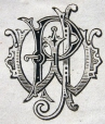 M930.50.1.448 | Monogram of P. J. W. | Print | John Henry Walker (1831-1899) |  |