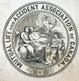 M930.50.1.498 | Emblem of Mutual Life and Accident Association of Canada | Print | John Henry Walker (1831-1899) |  |