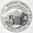M930.50.1.500 | Emblem of Mutual Life and Accident Association of New York | Print | John Henry Walker (1831-1899) |  |