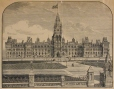 M930.50.1.51 | Édifices du Parlement, Ottawa | Estampe | John Henry Walker (1831-1899) |  |