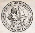 M930.50.1.523 | Seal of The Citizens' Insurance and Investment Company, Montreal | Print | John Henry Walker (1831-1899) |  |