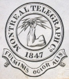 M930.50.1.535 | Emblem of Montreal Telegraph Co. | Print | John Henry Walker (1831-1899) |  |