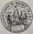 M930.50.1.555 | Emblem of Grand Lodge of Quebec | Print | John Henry Walker (1831-1899) |  |