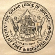 M930.50.1.562 | Coat of arms of The Grand Lodge of Quebec, Ancient Free & Accepted Masons | Print | John Henry Walker (1831-1899) |  |