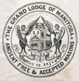 M930.50.1.563 | Coat of arms of The Grand Lodge of Manitoba, Ancient Free & Accepted Masons | Print | John Henry Walker (1831-1899) |  |