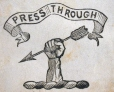 "M930.50.1.628 | Symbol for ""Press Through"" 