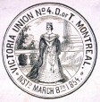 M930.50.1.683 | Seal of Victoria Union No. 4, D. of T., Montreal | Print | John Henry Walker (1831-1899) |  |
