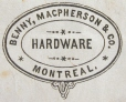 M930.50.1.830 | Commercial crest of Benny MacPherson & Co, Hardware | Print | John Henry Walker (1831-1899) |  |