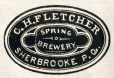 M930.50.1.835 | Commercial label of C. H. Fletcher, Sherbrooke, Spring Brewery | Print | John Henry Walker (1831-1899) |  |