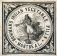 M930.50.1.893 | Étiquette commerciale de Bowman's Indian Vegetable Pills | Impression | John Henry Walker (1831-1899) |  |