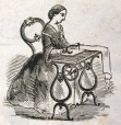 M930.50.1.901 | Woman sewing | Print | John Henry Walker (1831-1899) |  |
