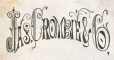 M930.50.1.904 | Design for corporate name of Jas. Cromisie & Co. | Print | John Henry Walker (1831-1899) |  |