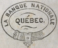 M930.50.1.924 | Design for corporate name of La Banque Nationale, Quebec | Print | John Henry Walker (1831-1899) |  |