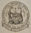 M930.50.3.186 | Seal of St. Patrick's Total Abstinence Society, Montreal | Print | John Henry Walker (1831-1899) |  |
