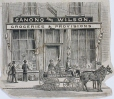 M930.50.3.327 | Ganong and Wilson, Groceries & Provisions | Print | John Henry Walker (1831-1899) |  |
