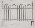 M930.50.3.346 | Catalogue illustration of wrought iron gate | Print | John Henry Walker (1831-1899) |  |