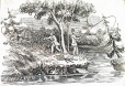 M930.50.7.710 | Fishing scene | Print | John Henry Walker (1831-1899) |  |