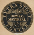 M930.51.1.500 | Commercial label of Extra Stout Porter, Dow & Co. | Print | John Henry Walker (1831-1899) |  |