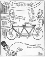 M965.199.2865 | Bicycle Built for Two. | Drawing | John Collins |  |