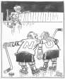 """M965.199.5753   """"Start the Game Before He Learns How to Skate"""".   Drawing   John Collins     """