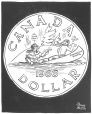 M965.199.5836 | New Design for the Canadian Dollar. | Drawing | John Collins |  |