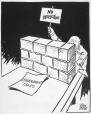 M965.199.7056 | The Wall Builder. | Drawing | John Collins |  |