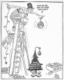 M965.199.8849 | More and More Ornaments on a Smaller Tree. | Drawing | John Collins |  |