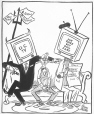 M965.199.8950 | Between the Devil and the CBC. | Drawing | John Collins |  |