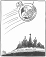 M965.199.9582 | The Russians Put Another One in Orbit. | Drawing | John Collins |  |