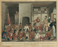 M965.9 | Captain Bulger, Governor of Assiniboia, and the Chiefs and Warriors of the Chippewa Tribe of Red Lake, in Council in the Colony House in Fort Douglas, May 22nd, 1823. | Painting | Peter Rindisbacher |  |