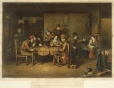 M976.71.1 | French Canadian Habitans playing at cards | Print | Cornelius Krieghoff (1815-1872) |  |