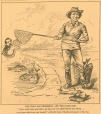 M982.530.5018 | The wary old fisherman, and the loose fish | Print | Henri Julien |  |