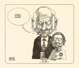 M985.221.98 | René Lévesque With a Voter | Drawing | Aislin (alias Terry Mosher) |  |