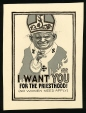 M986.289.147 | I Want YOU for the Priesthood! | Drawing | Aislin (alias Terry Mosher) |  |