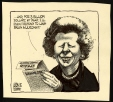 M988.175.34 | Margaret Thatcher and a Submarine Contract | Drawing | Aislin (alias Terry Mosher) |  |