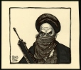 M988.175.54 | Ayatollah Khomeni As a Terrorist | Drawing | Aislin (alias Terry Mosher) |  |
