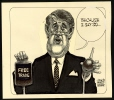M988.175.80 | Brian Mulroney and Free trade | Drawing | Aislin (alias Terry Mosher) |  |