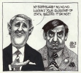 M989.363.102   Brian Mulroney and Lucien Bouchard   Drawing   Aislin (alias Terry Mosher)     