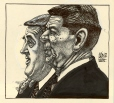 M989.363.87 | Ronald Reagan et  Brian Mulroney | Dessin | Aislin (alias Terry Mosher) |  |