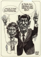 M990.761.7 | Nancy et Ronald Reagan | Dessin | Aislin (alias Terry Mosher) |  |