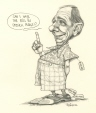 M996.10.141 | Can I have the bill in French, please!? | Drawing | Serge Chapleau |  |