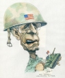 m996.10.192 | Bush Rolls Out His Peaceful Solution | Drawing | Serge Chapleau |  |