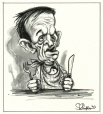 M996.10.373 | Jean Chrétien at the Dinner Table | Drawing | Serge Chapleau |  |