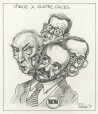 M996.10.486 | A Four-sided Face | Drawing | Serge Chapleau |  |