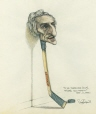 M996.10.49 | Despite his name, he doesn't speak joual | Drawing | Serge Chapleau |  |