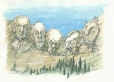M996.10.5 | Quebec's Mount Rushmore | Drawing | Serge Chapleau |  |